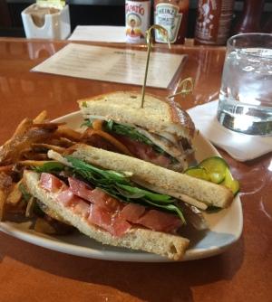 Engine Company No 9 Club Sandwich Truffle Fries