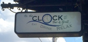 On the clock sign