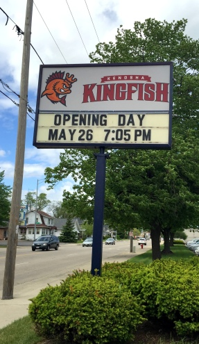 Opening day sign