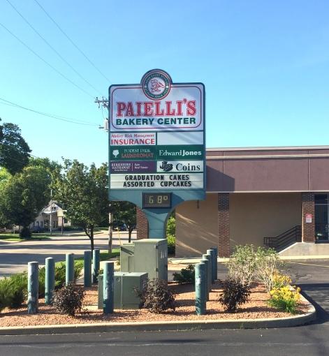 Paielli's exterior sign