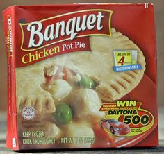 A package of Banquet brand chicken pot pie is photographed in Omaha, Neb., Tuesday, Oct. 9, 2007. Several state health departments have told ConAgra Foods that its Banquet pot pies may be linked to cases of salmonella, but the company says its products are safe if they're cooked properly.(AP Photo/Nati Harnik)