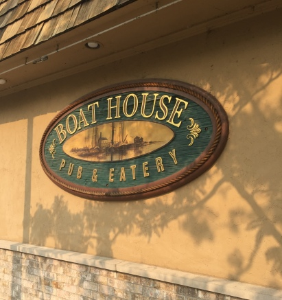 Boathouse sign