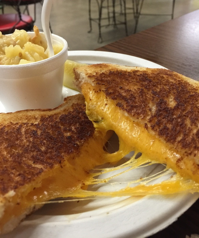 Mars Cheddar Grilled Cheese