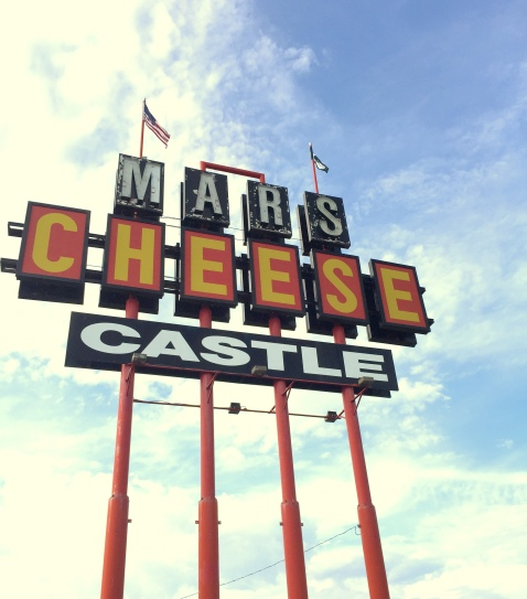 Mars Cheese Sign