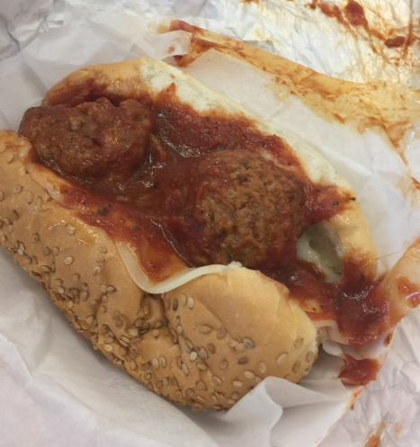 Glorioso meatball sandwich