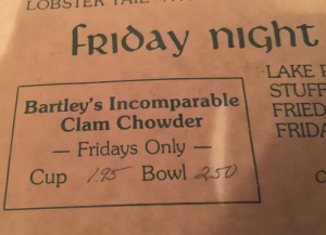 chowder menu