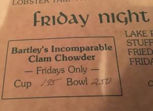 chowder menu