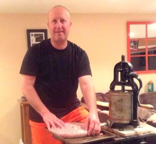 jerry making sausage