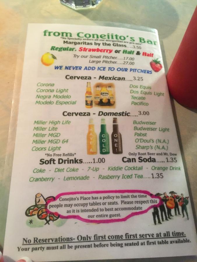 conejito menu